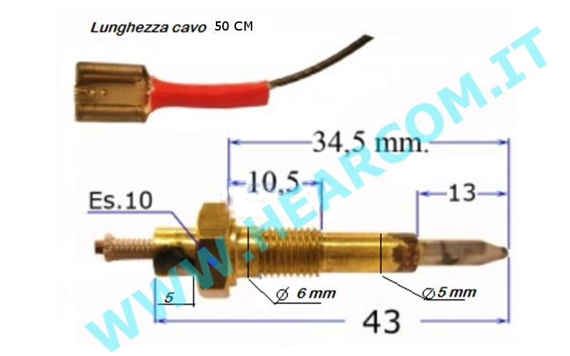 CANDELETTA SCINTILLA ACCENSIONE PER PIANO DI COTTURA FOSTER 80 CM 9604021