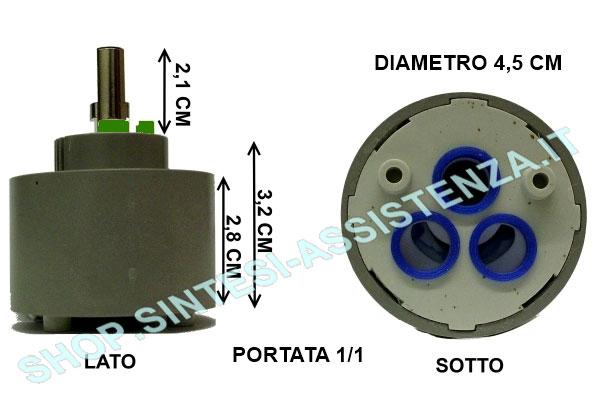 Plafoniera Cappa Franke : Cartuccia ricambio rubinetto lavello franke foster diametro 40 mm
